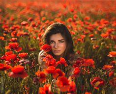 Photograph The poppies by Vladislav Gaiyuha on Creative Photography, Street Photography, Portrait Photography, Fashion Photography, Romantic Girl, Outdoor Portraits, Beautiful World, Poppies, Photoshoot