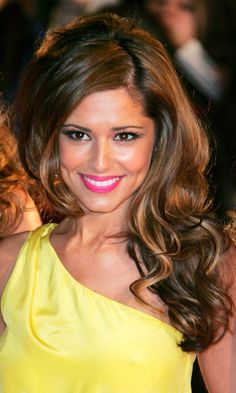 Cheryl Coles Sideswept Curls Make For A Red Carpet Worthy Hairstyle At The Brit Awards, February 2008
