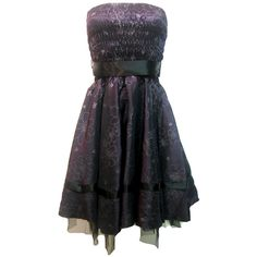 Prom Dress Purple Satin | Gothic Clothing | Emo clothing | Alternative clothing | Punk clothing - Chaotic Clothing found on Polyvore