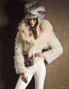 Retro-modern ski-wear.  Vogue Germany, December 2013