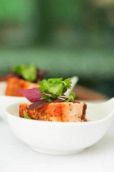 Seared Atlantic salmon, soba noodles, crisped Asian green, soy & sesame