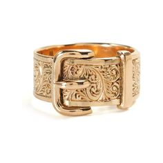 Victorian Rose Gold Buckle Ring - The Three Graces    very different, and I like it!