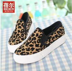 Price! 37.50$ Factory price new 2014 leopard shoes canvas sneakers for women causal women loafers shoes women canvas shoes WA4013