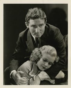 "George Hurrell - Jean Harlow and Spencer Tracy from ""Riffraff"" (1936)"