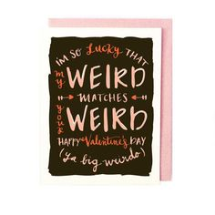Why not surprise your sweetheart with a Valentine's Day card that's short on clichés and long on quirk? #etsyfinds