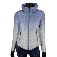 Gewatteerde jack met uitvouwbare kraag in blauw/wit  35- Online: www.dannyschoice.nl  En in de winkel: #Beverwijk  #happy #fashion