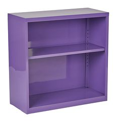 Purple Metal Bookcase