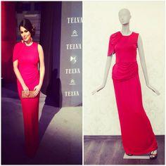 Marisa Jara eligió un vestido de la colección crucero  2014 Alicia Rueda para asistir a los premios Telva