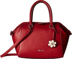 Nine West Womens Abela Satchel Ruby RedRuby RedRuby RedBlackMilk One Size *** Click image to review more details. (This is an affiliate link)