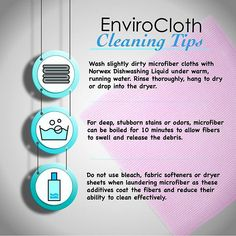 How do you care for your #Norwex Envirocloth? Questions or comments? Email me at sarah@cleanwithpurpose.com
