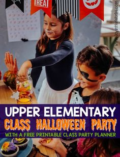 Upper Elementary Class Halloween Party with Printable Planner
