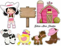 Cowgirl in Pink: Printable Cake Toppers. Cowgirl Birthday, Cowgirl Party, 14th Birthday, Cowboy Baby, Cowgirl Cakes, Farm Animal Party, Farm Kids, Party Printables, Cake Toppers
