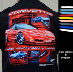 """Corvette """"Weapon"""" 9 color separation by myseps for Wicked Metal. Every weapon needs a master.."""