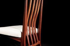 Ferrer Dining Chair by Tim Noone, furniture design, Roselands, NSW. See more in our interview with Makers Lane - connecting Australian artisans and craftsmen with clients: http://www.merchantandmakers.com/makers-lane-australia/