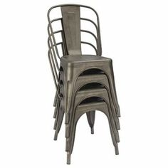 17 Stories Lilian Metal Slat Back Stacking Side Chair (Set of , Parsons Dining Chairs, Solid Wood Dining Chairs, Extendable Dining Table, Metal Chairs, Patio Chairs, Dining Chair Set, Side Chairs, Patio Seating, Kitchen Chairs