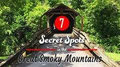 These secret spots in the Great Smoky Mountains area are fun, free, and interesting! Some are easy to get to, others aren& but they& all amazing! Gatlinburg Vacation, Gatlinburg Tennessee, Tennessee Vacation, The Mountains Are Calling, Great Smoky Mountains, Smoky Mountain Christmas, Smokey Mountain, Road Trip Map, Road Trips