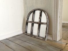 OOAK Shabby Chic Style Window Pane Mirror Dollhouse Miniature 1/12 Scale by SmallScaleLiving, $15.00