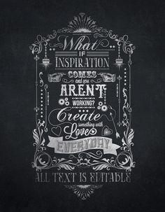 Chalkboard Typography Template on Behance