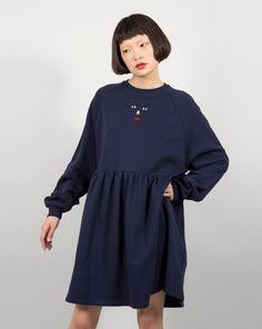 Lazy Oaf Face Emb Sweater Dress