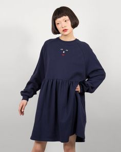 Lazy Oaf Face Emb Sweater Dress