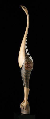 Moa (New Zealand Moa) by Rex Homan, Māori artist painted fiber board
