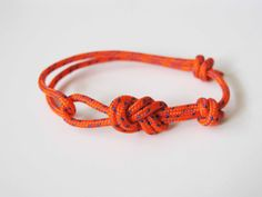 Rope Bracelet - Unisex Figure 8 Rock Climbing Bracelet - Orange. $8.00, via Etsy.