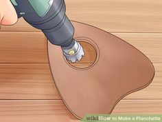 """How to Make a Planchette. Planchettes, or """"little planks,"""" are used on Ouija boards worldwide, or attached to a pencil and used to produce mystical drawings or writing. If you need to replace a planchette or just want to make one yourself,. Wiccan Art, Wiccan Crafts, Wiccan Spells, Table Ouija, Diy Ouija Board, Rider Waite Tarot Cards, Pagan Witch, Witches, Wood Burning Stencils"""