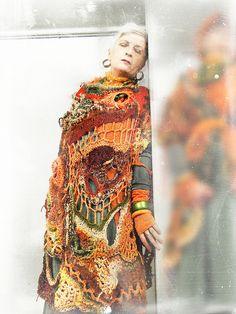 MizzieMorawez - Mystic garden east of Eden freeform crochet Hippie Look, Hippie Style, Manta Crochet, Freeform Crochet, Free Crochet, Knit Crochet, Crochet Geek, Crochet Potholders, Estilo Hippie