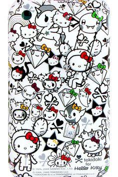 encanto-celeste: Hola móvil del gatito del papel pintado