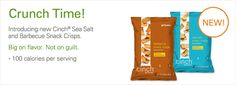 Crunch on this: These delicious Snack Crisps are only 100 calories, offer 6 grams of hunger-fighting protein, made with non-GMO soy protein, NO MSG or trans-fat and Gluten Free. Munch away!