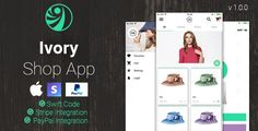 Ivory Shop - eCommerce App . Ivory Shop is an eCommerce application made 100% in Swift. The app is easy to use for your own eCommerce mobile