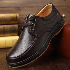 73.55$  Watch here - http://aliqlb.worldwells.pw/go.php?t=32783331657 - Men Dress Shoes Cow Leather Business Flats 2017 Brand Men's Oxford Shoes Genuine Leather Shoe Lace-up Loafers Plus Size 38-48 73.55$