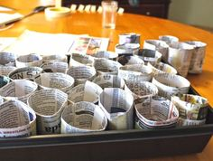 seed pots from newspaper
