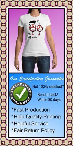 Gemini sign of zodiac, zodiac tees, astrology t-shirt, Gemini T-shirt, men's tee shirt, women's tee shirt, Spreadshirt $16.95
