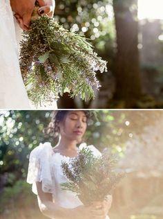 herb wedding bouquet, image by http://www.mattandlenaphotography.com/