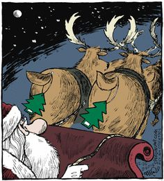 Christmas Memes Speed Bump by Dave Coverly for December 25 2015 Christmas Comics, Christmas Jokes, Christmas Cartoons, Christmas Fun, Christmas Doodles, Xmas, Funny Cartoons, Funny Comics, Funny Memes