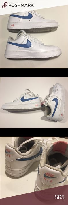 Triple white Air Force 1 low top **Custom** Triple white Air Force 1. Sz. 5.5 Follow @medkixs on IG/GOAT Nike Shoes Sneakers