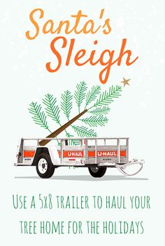 Seasons Greeting! This holiday season you can get your own sleigh just like Santa! The 5x8 medium open trailer for rent is one of our most economical utility trailers, and is perfect for bringing the perfect Christmas tree home to decorate. | Trailer and Towing