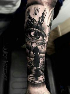 Make temporary tattoos Forarm Tattoos, Time Tattoos, Body Art Tattoos, Hand Tattoos, Cool Tattoos, Half Sleeve Tattoos For Guys, Arm Sleeve Tattoos, Realistic Tattoo Sleeve, Make Temporary Tattoo