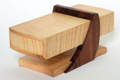 Wood Presentation Box - Wooden Desk Box / Display Box - Curly Maple Box…