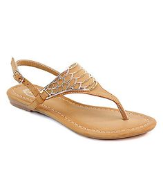 Look at this #zulilyfind! Camel & Silver Scale Sandal #zulilyfinds