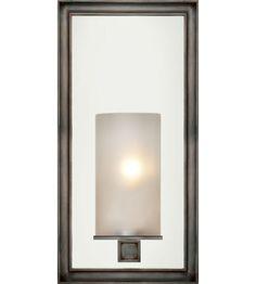 VISUAL COMFORT - E.F. Chapman Lund 1 Light Bath Wall Light in Bronze with Wax CHD2051BZ-FG