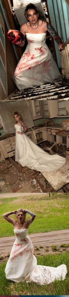 Bloody divorce! Trash The Dress shoot..I am wanting blood and dirt with a shovel and freshly turned up dirt...mmhmmh