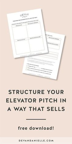 Brand Messaging for the Creative Business Owner | Craft Your Elevator Pitch to Sell | Introduce Yourself at Networking Events | Grab the FREE 2 page download! Your elevator pitch is the perfect way to attract or repel new clients within seconds of discovering your brand — whether it's in person or online. Ensure you're not making any of these common mistake, break down your elevator pitch into four key parts, and put it all together in a way that sells.