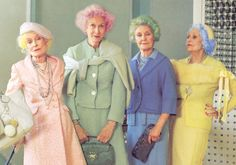 Old Ladies with colorful hair!