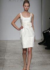 Amsale Little White Dress   Alexia's Bridal