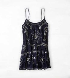 AEO Sequined Chiffon Slip Dress - Buy One Get One 50% Off