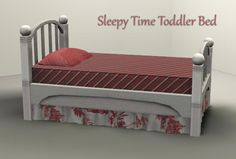 Mod The Sims - Sleepy Time Toddler Bed