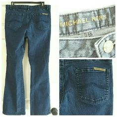 """FLASH SALE*Michael Kors Bootcut jeans Dark wash really good condition.    80 % cotton. 19 % polyester 1% spandex. A little stretch but fits great. No tears or rips or stains.dark wash. 31"""" inseam  Waist measures 35"""" Michael Kors Jeans Boot Cut"""