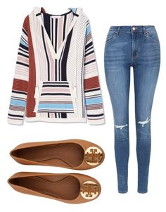 Outfit for the spring time by sarayxg on Polyvore featuring polyvore, fashion, style, Tory Burch, Topshop and clothing